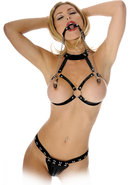 Fetish Fantasy O Ring Gag With Nipple Clamps Black
