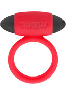 Tantus Vibrating Silicone Super Soft C Ring Waterproof Red