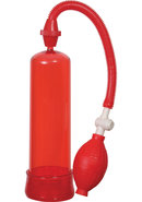 Linx Pumped Up Fire Penis Pump Red 7.75 Inch