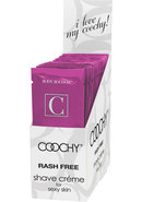 Coochy Shave Creme Make Me Blush Foil 24 Packs Per Counter...