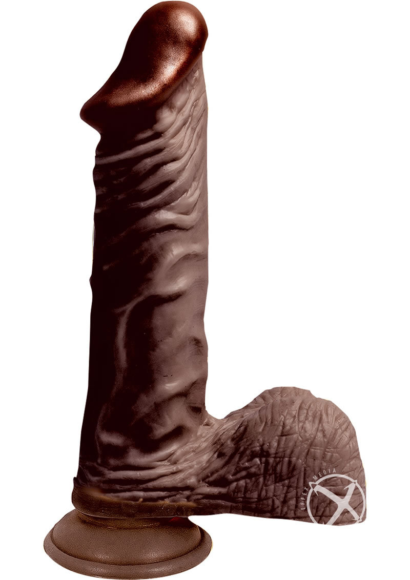 Lifelikes Vibrating Black King Vibrator 9 Inch Brown