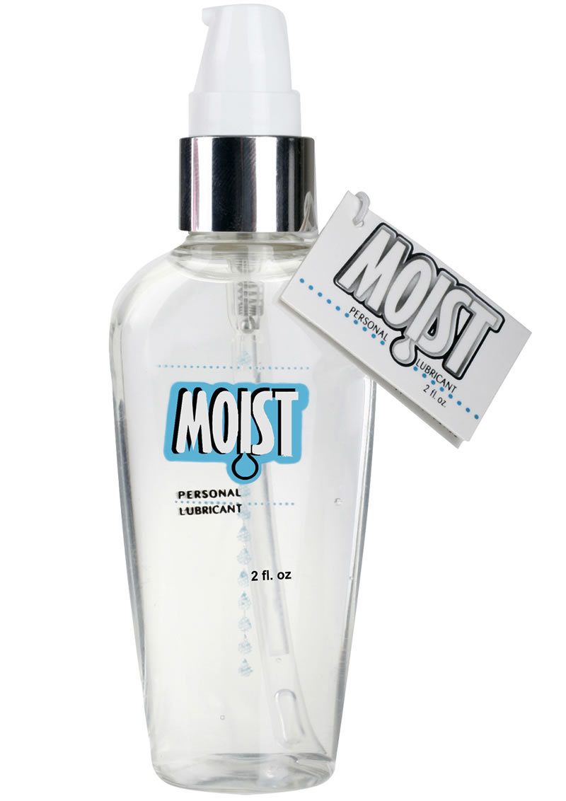 Moist Personal Water Based Lubricant 2 Ounce Pump
