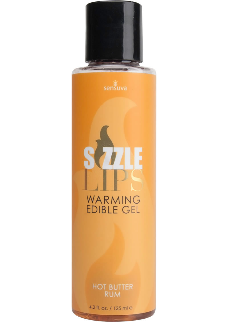 Sizzle Lips Warming Edible Gel Butter Rum 4.2 Ounce