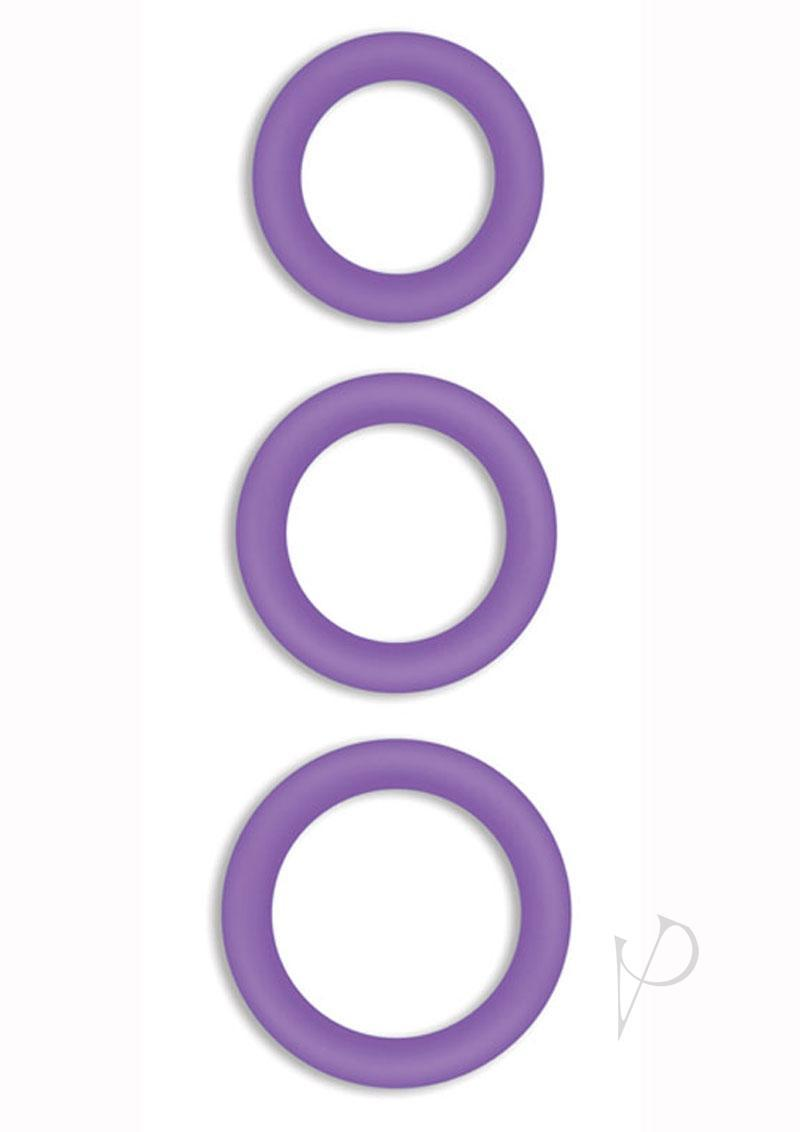 Firefly Halo Silicone Cock Ring Purple Medium