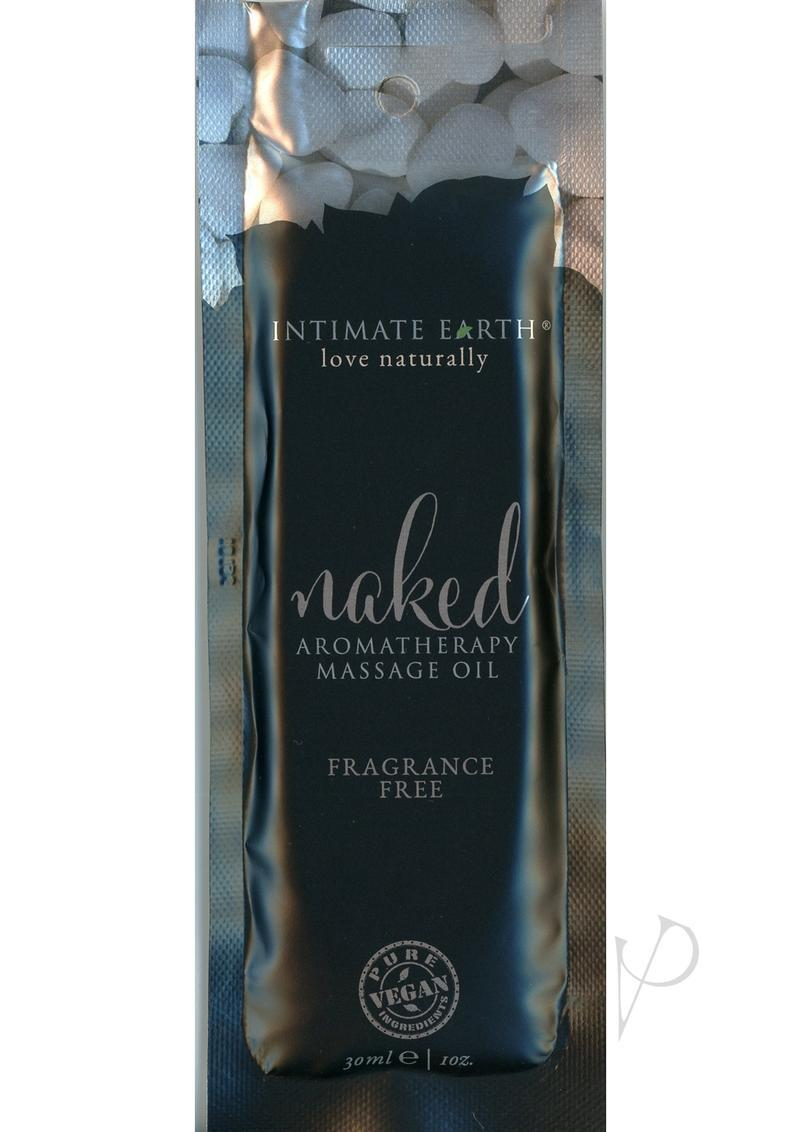 Intimate Earth Naked Aromatherapy Massage Oil Fragrance Free Foil Pack 1 Ounce